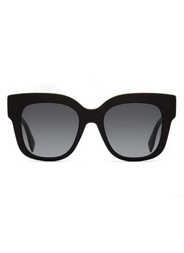 Fendi Fendi Ff 0359/G/S 807 51 Ekartman Oval Kadın Güneş Gözlüğü Siyah